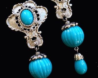 Turquoise Earrings Vintage Avon