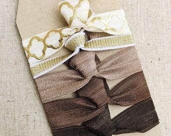 Neutral Mosaic - Gift Set of 5 Perfect Hair Ties