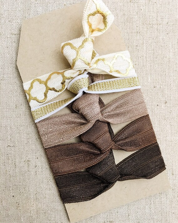 Neutral Mosaic - Gift Set of 5 Perfect Hair Ties