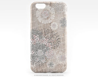 iPhone 7 Case Wood Floral iPhone 7 Plus iPhone 6s Case iPhone SE Case iPhone 6 Case iPhone 5S Case Galaxy S7 Case Galaxy S6 Case I14d
