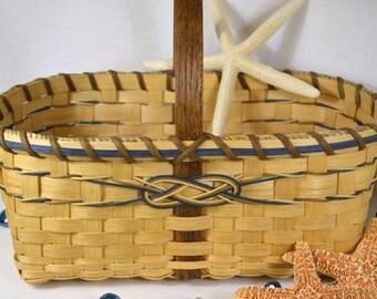 """BASKET PATTERN """"Daphne"""" Farmer's Market or Vegetable Garden Basket"""
