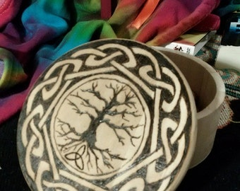 Customized Woodburned Birch Boxes
