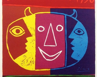 """Picasso 80 """"Vallaris Exposition 1956"""" printed 1959 Mourlot Art in posters"""