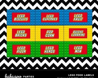 Lego Food Labels - DESIGN ONLY