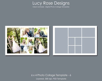 6 x 4 Photo Collage Template - 6