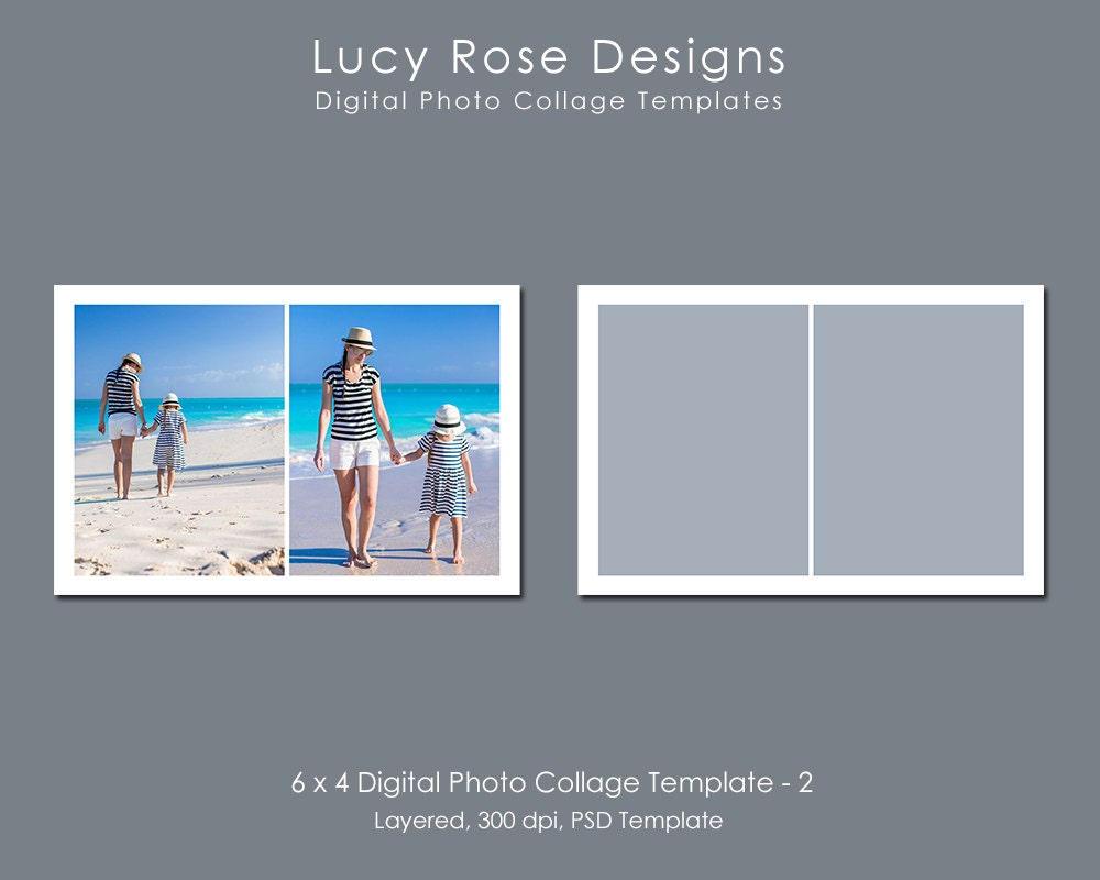 6 x 4 photo collage template 2 for 4 picture collage template