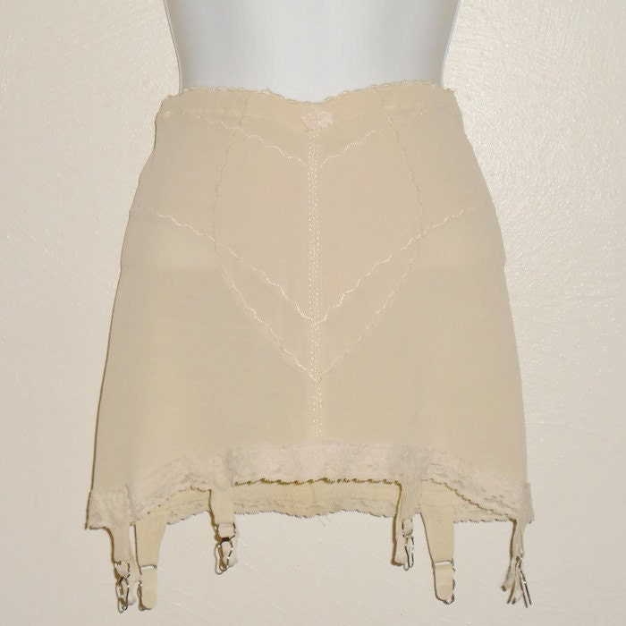Vintage Beige Girdle With Garders