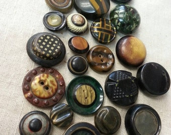 Vintage celluloid buttons 25 pieces