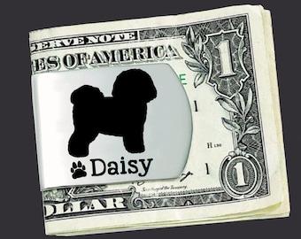 Bichon Frise Money Clip   Bichon Frise   Custom Money Clip   Money Clip   Fathers Day   Gift for Men   Korena Loves