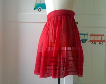 Vintage hostess apron, musical notes apron, housewarming hostess hift