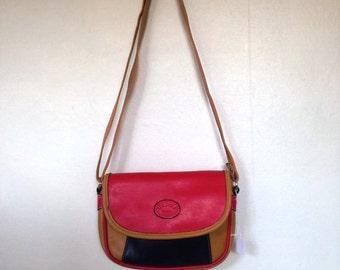 Faux leather vintage bag, vegan leather bag, vintage handbag