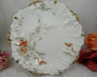 1890s Vintage Hand Painted L. S & S Lewis Straus and Sons Limoges France Serving Plate
