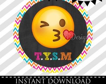 INSTANT DOWNLOAD - Emoji Favor Tags