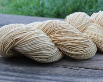 "Naturally Dyed Sock Yarn, ""Cedar Shadows"" DYED TO ORDER - superwash wool and nylon 100g 357 yards"