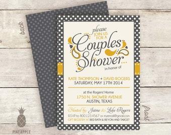 Polka-Dot & Paisley Couples Shower Invitations