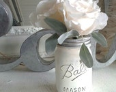 Cottage Chic Rose Flower Pens with Jar Vase