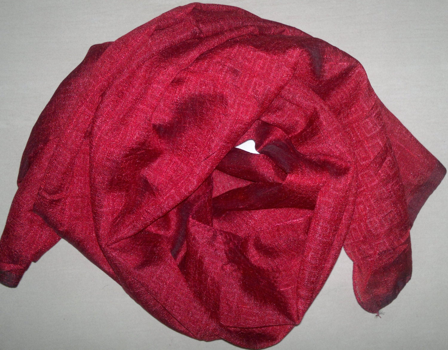small scarf indian silk scarf neck scarf maroon by