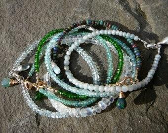 Stacking Bracelet,Layering Bracelet,Stackable Bracelet,Delicate Bracelet,Stack Bracelet,Gemstone Bracelet,Single Strand Gemstone Bracelet