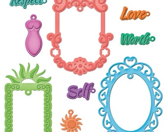 Spellbinders - Shapeabilities - Jewel Framed Sentiments