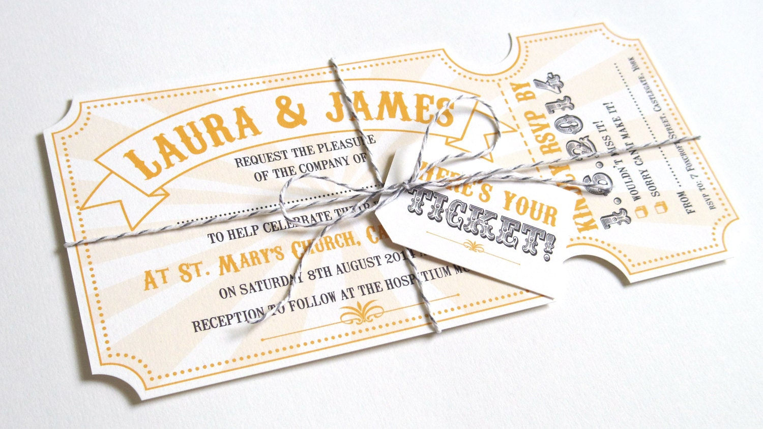 Wedding Invitation Tickets: Circus Ticket Wedding Invitations Fun Fair Carnival
