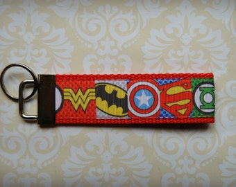 Ultimate Superhero Inspired Key Fob Key Chain