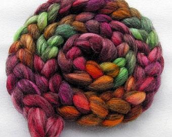 BFL Gotland Wool Roving - Handpainted Spinning Fiber -   5.3 oz.  Nr. 702