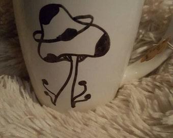 Space Garden Doodle Mug