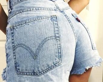 The Blues Cut Off High Waist Shorts