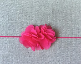 Bright pink headband