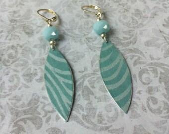 Boho Earrings - boho chic paper earrings - nickel free - long earrings