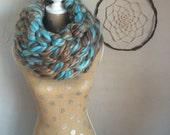 Chunky scarf, Cozy Infinity Scarf, Arm-knit infinity scarf, Chunky scarves, funky scarves, holiday scarves, arm-knit scarf, arm-knit scarves