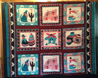 Southwest Fabric Wall Hanging/Quilt Top