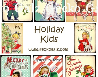 Holiday Kids Collage Sheet
