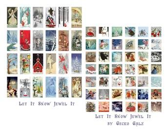 Let It Snow Jewel It Digital Collage Set