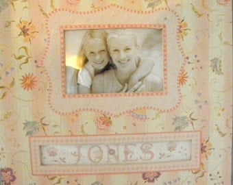 K&Company FRAME A NAME Photo Album Embossed Cover 12x12 Post Bound New Old Stock