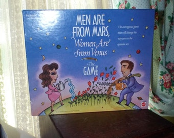 Vintage Game by Mattel Men Are From Mars, Women Are From Venus Board Game