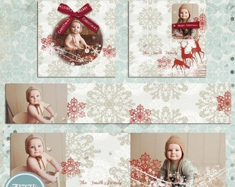 ON SALE 3x3 WHCC Accordion Album Template, 3x3 Christmas Mini Book Template, Accrodion Book