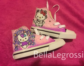 Hand Painted Hello Kitty Sneakers