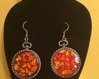 Fire Foil Earrings
