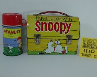 1970's Peanuts-Have lunch with Snoopy Lunchbox and Thermos