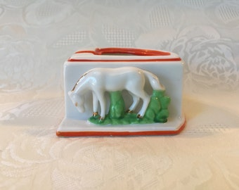 Horse Ashtray Made In Japan Tobacciana Collectible Ashtray Horse Figurine Trinket Dish