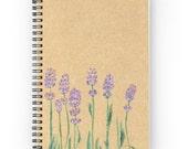 Lavender Notebook, floral notebook, rustic notebook, lavender journal, flower notebook, flower journal, floral journal, brown notebook