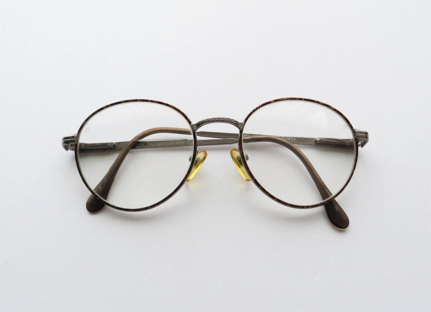 Eyeglass Frames Wire Rim : 90s Round Wire Rim Eyeglasses Maroon Tortoise Shell and