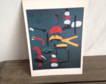 Miro abstract postcard