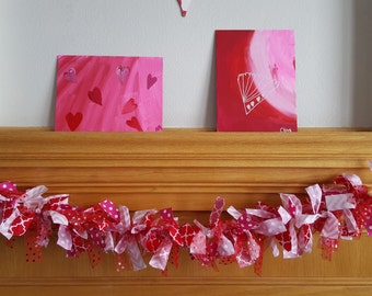 Valentine's Day Fabric Garland Banner - FREE shipping!