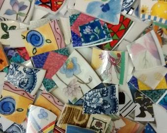 Mosaic cut tiles, mixed designs 11lbs