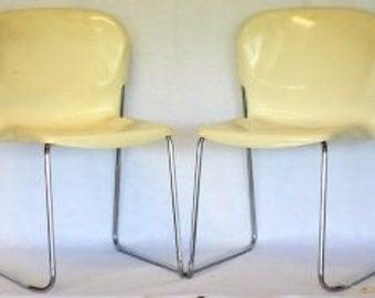 Pair Mid Century Modell Drabert Chairs