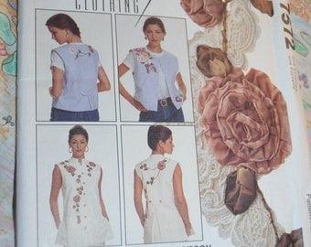 McCalls Crafts 7572 Misses Vest in Two Lengths Sewing Pattern - UNCUT - Sizes S M L XL - Creative Clothing
