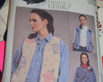 McCalls 2466 Misses Top Vest and Purse Sewing Pattern - UNCUT  - Sizes S - XL (8 - 22)
