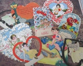Vintage Valentines day cards 9 pieces lot B